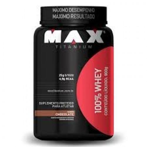 WHEY 100% - CHOCOLATE - MAX TITANIUM - 900G