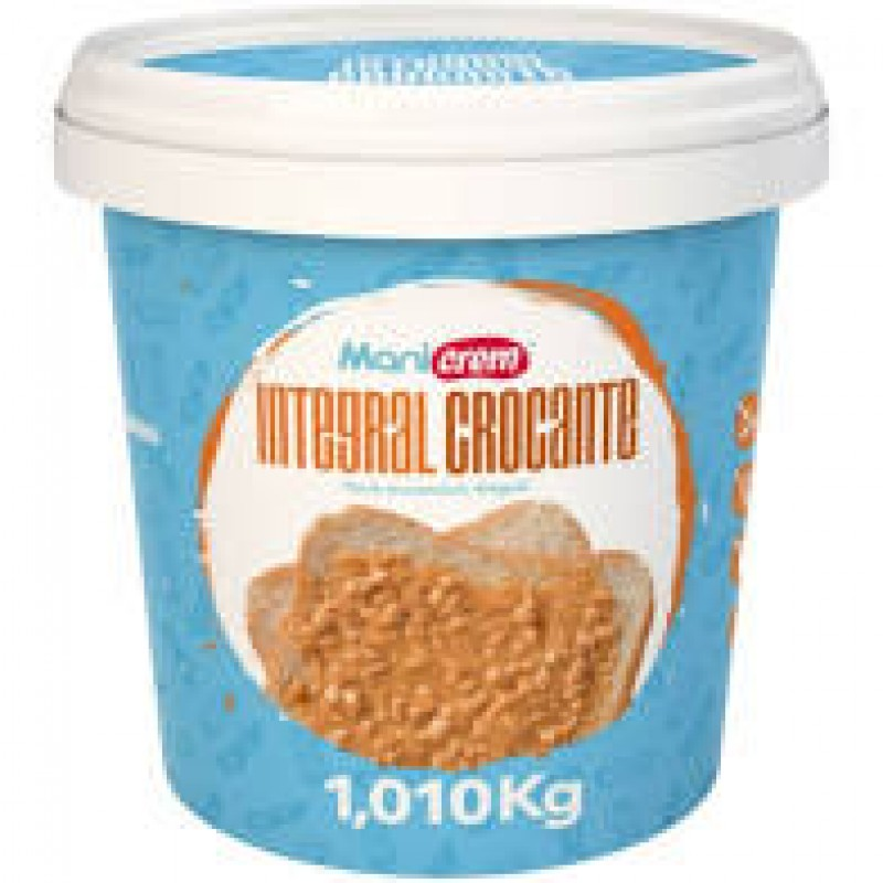 PASTA DE AMENDOIM CROCANTE MANICREAM 1,010 KG