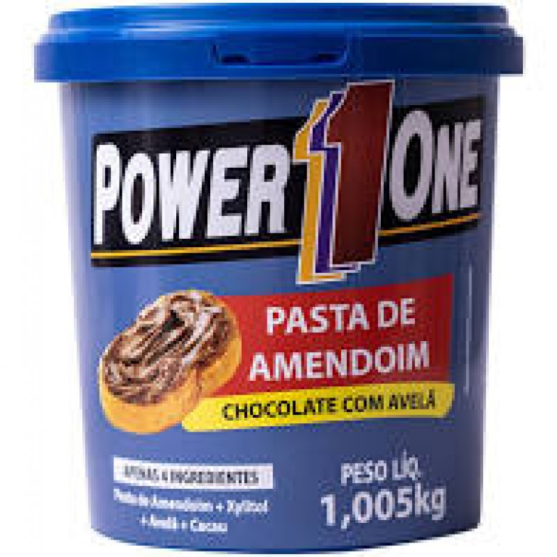 PASTA DE AMENDOIM COM AVELA 1.005 KG POWER ONE