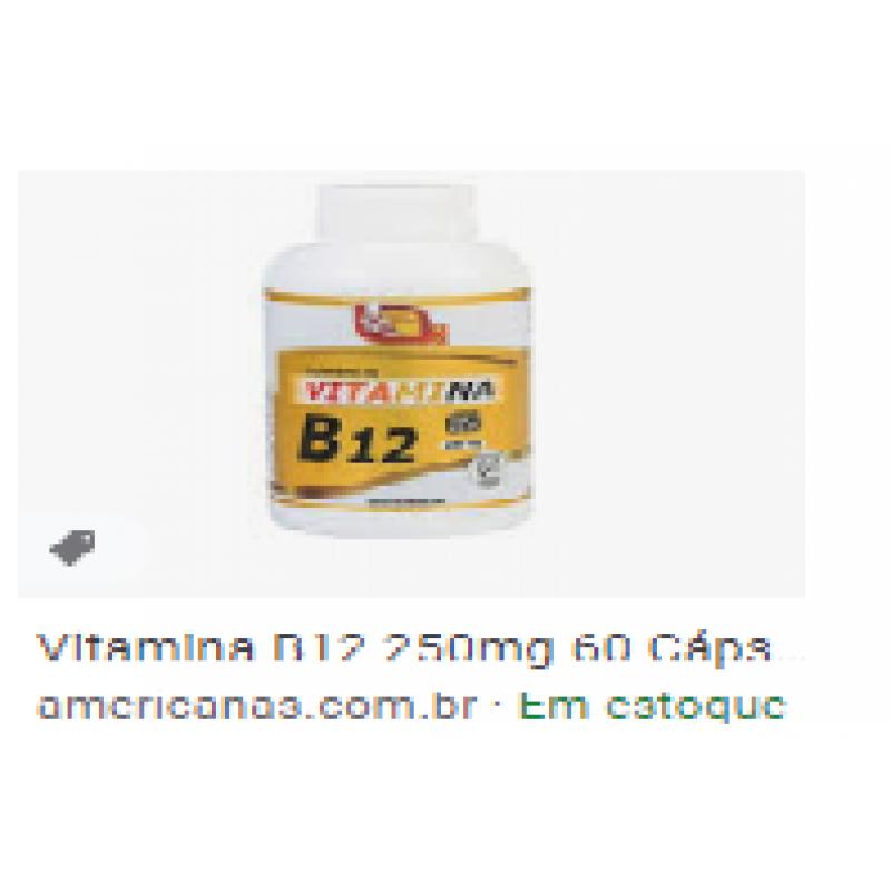 VITAMINA B12 60 CÁPS - 250MG
