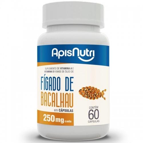 OLEO DE FIGADO DE BACALHAU - 60 CAPS -250MG - APIS NUTRI