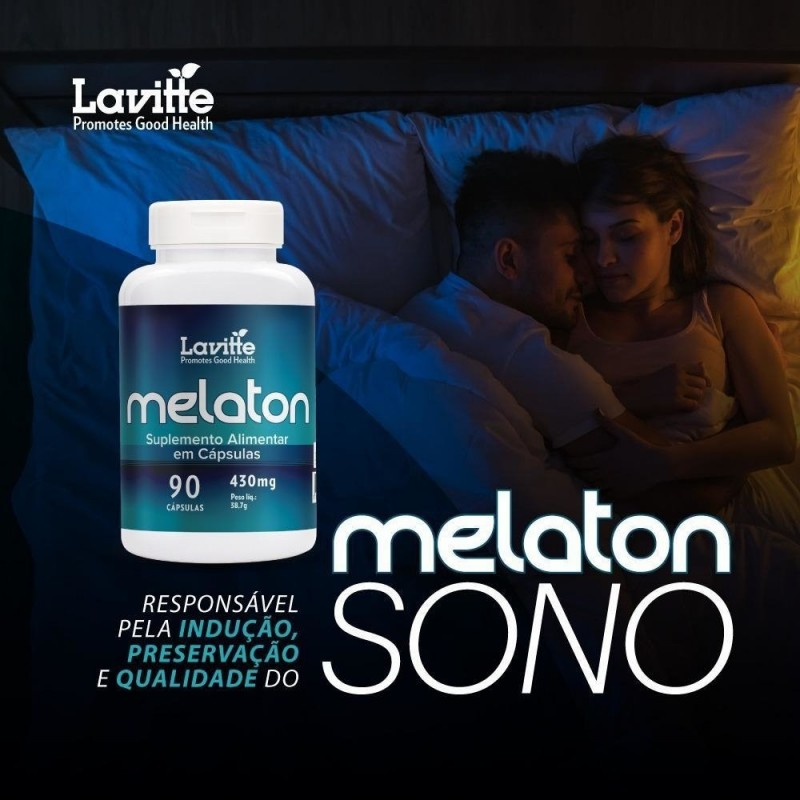 MELATON - 90CAPS - LAVITTE - 430MG