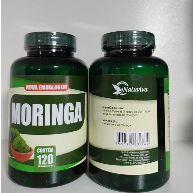 Moringa 120 cápsulas 500mg - Natuviva