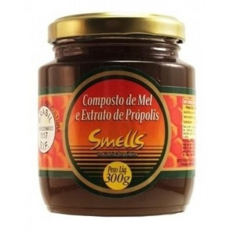 Composto de Mel e Extrato de Própolis 300g - Smel...