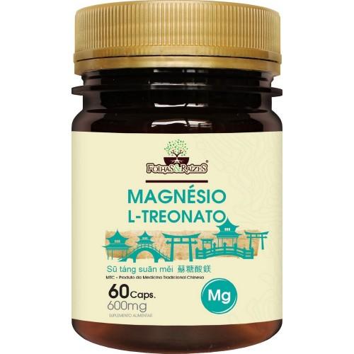 MAGNESIO L-TREONATO - FOLHAS E RAIZES - 60CAPS - 600MG