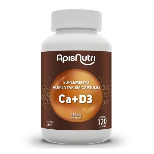 Ca+D3 - Suplemento De Cálcio e Vitamina D3 120 Cáps 450mg